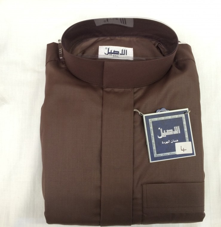 Al Aseel Mens Winter Jubbah Brown