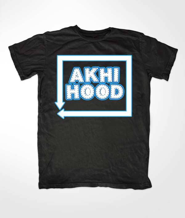 Akhi Hood Black Islamic T shirt