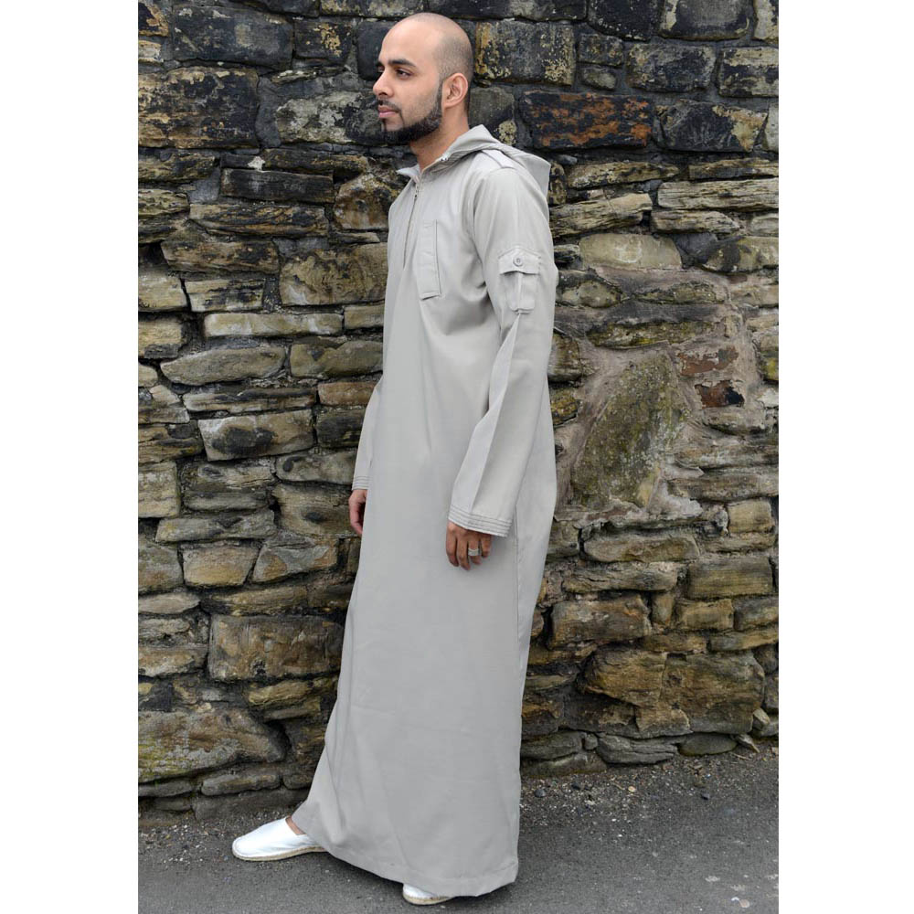 Beige Urban Hooded Jubba