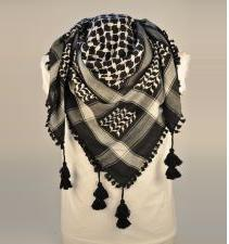 Black And White Palestinian Scarf Keffiyeh
