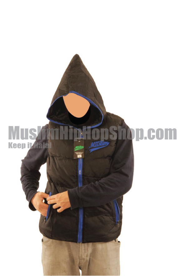 Black Color Muslim Hooded Body Warmer