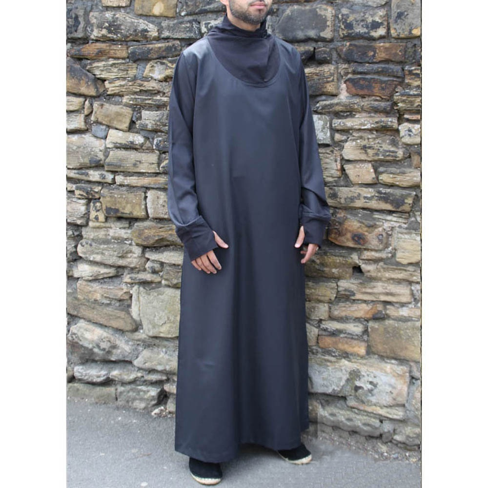 Black Cowell Neck Mens Fashion Jubba