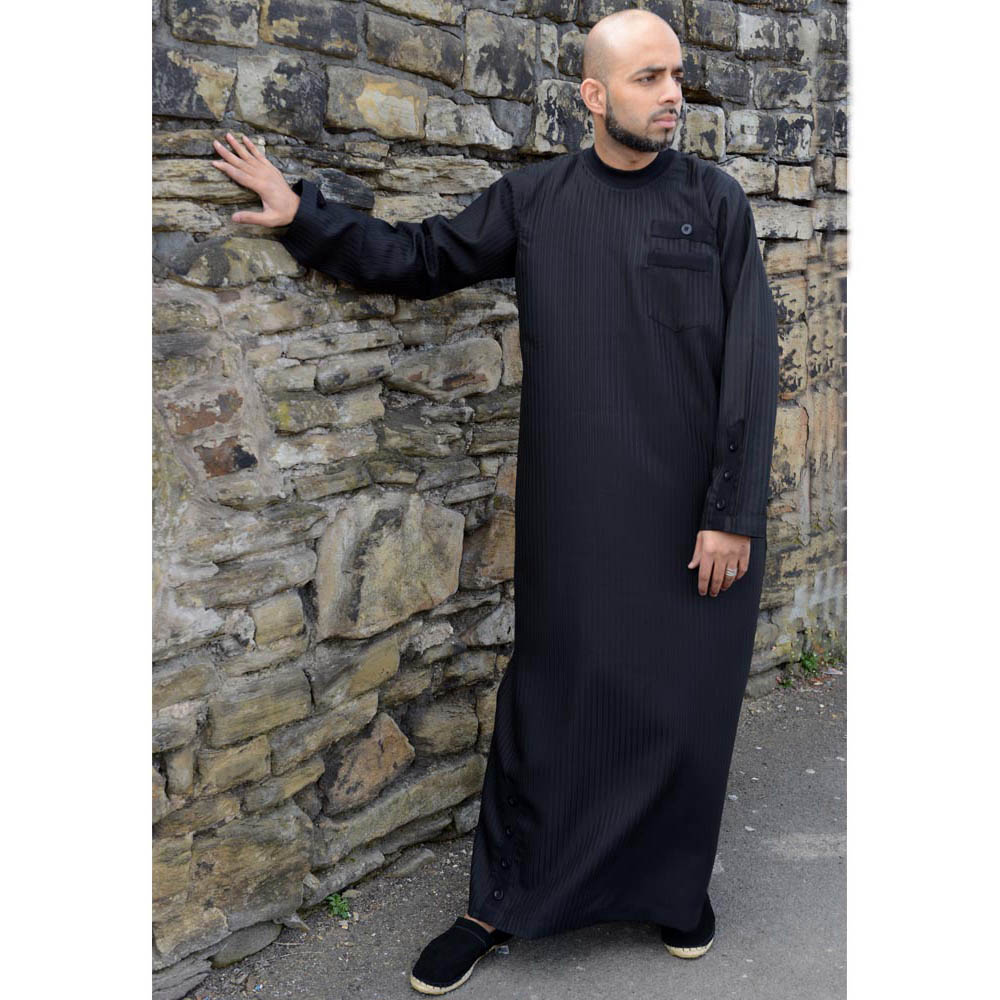 Black Cuff Button Jubba