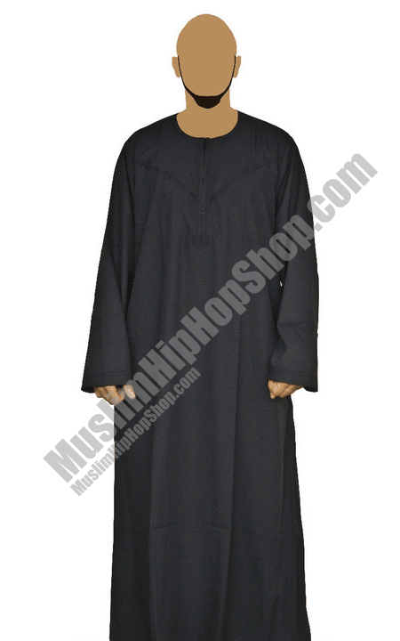 Black Omani Jubbah Throbe