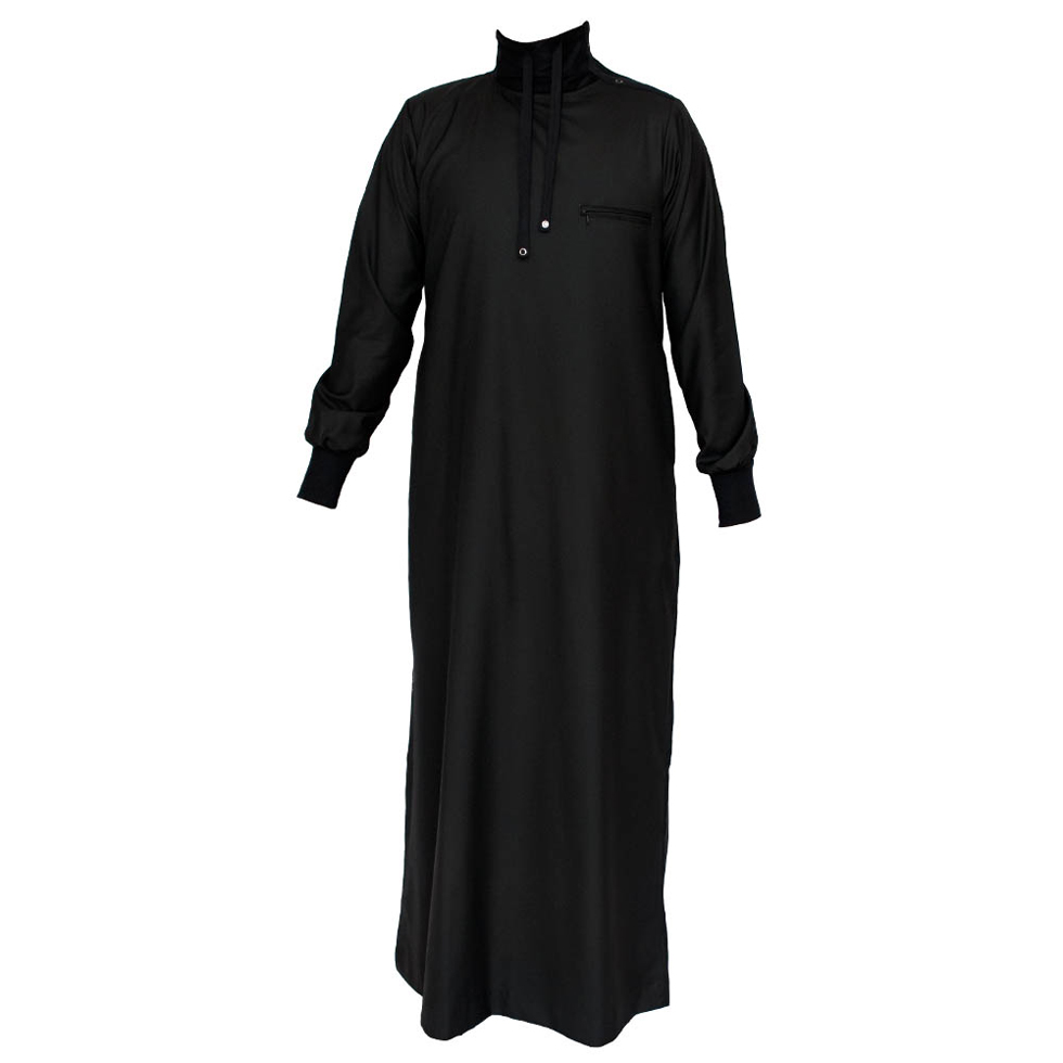 Black Polo Neck Jubbah Thobe