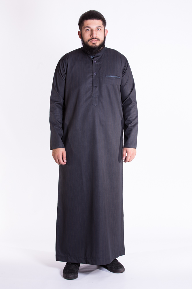 Black Mens Muslim Jubba