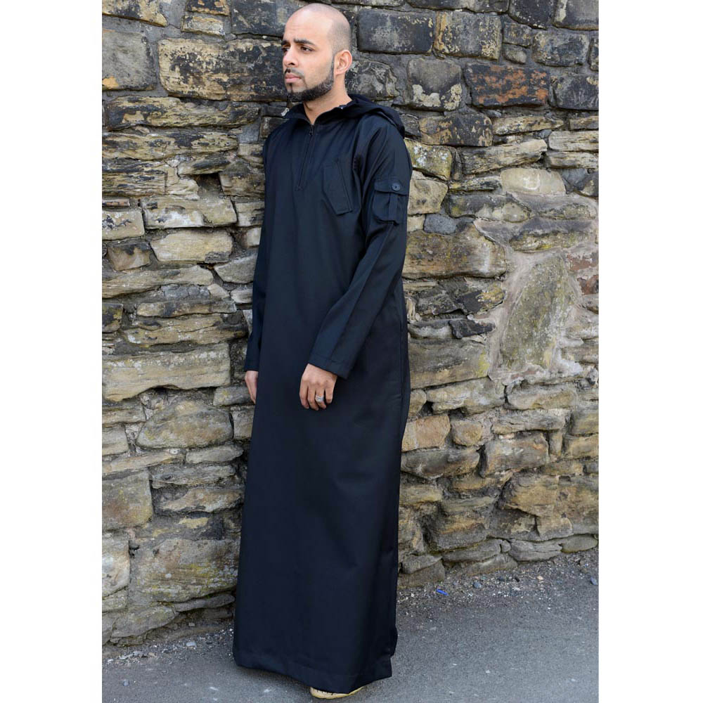 Black Urban Hooded Jubba