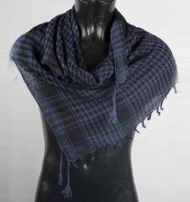Blue And Black Palestinian Scarf Keffiyeh