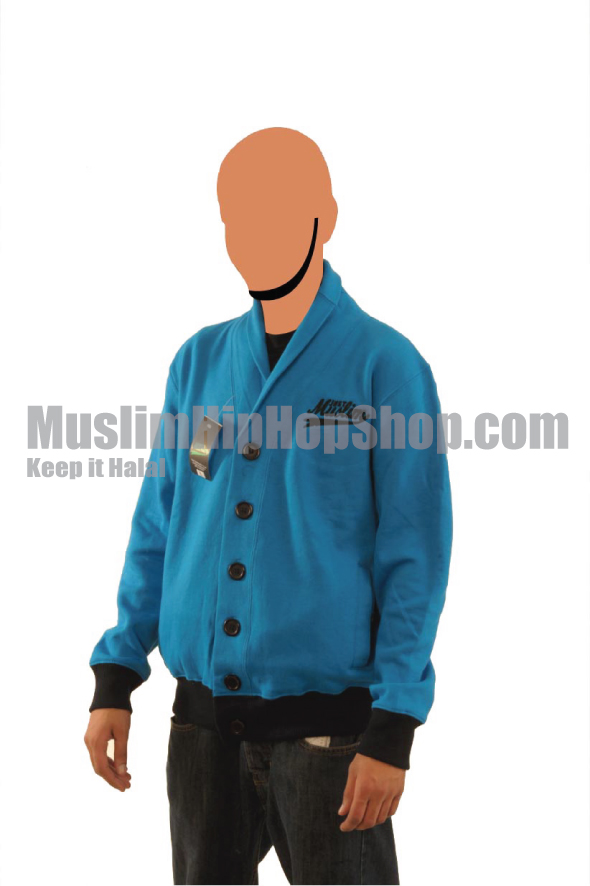 Blue Color Muslim Cardigen