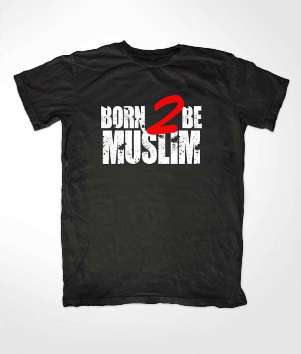 Born 2 Die Muslim Black T-shirt