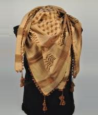 Brown And Beige Palestinian Scarf Keffiyeh