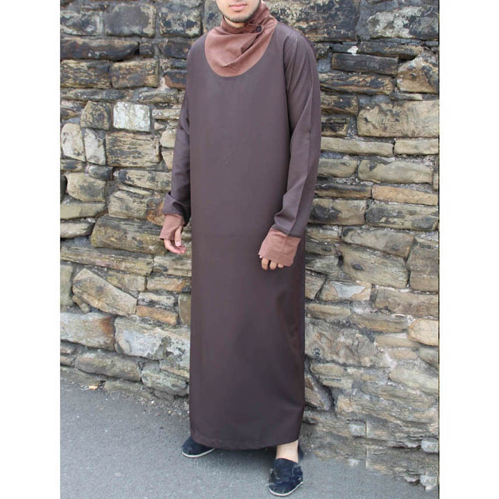 Brown Cowell Neck Mens Fashion Jubba