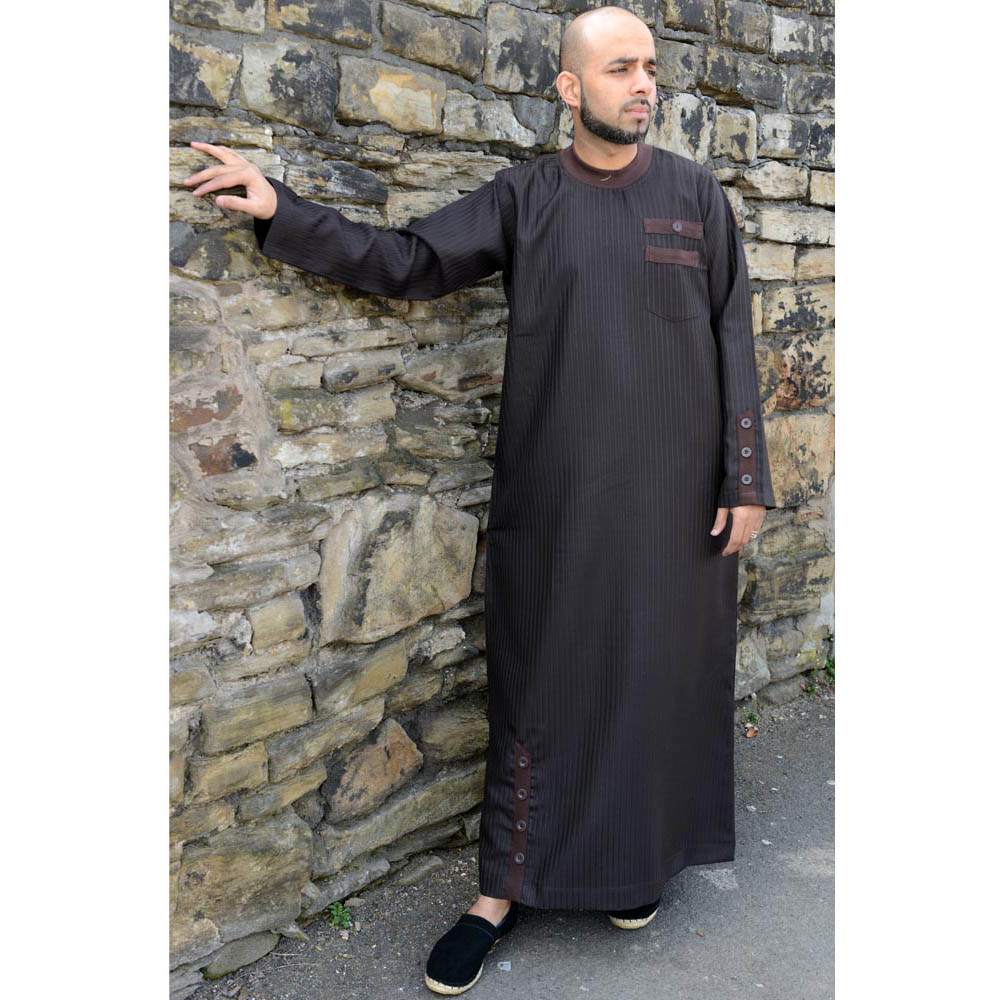 Brown Cuff Button Jubba