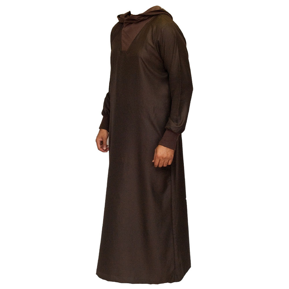 Brown Hooded Stylish Jubba Thobe