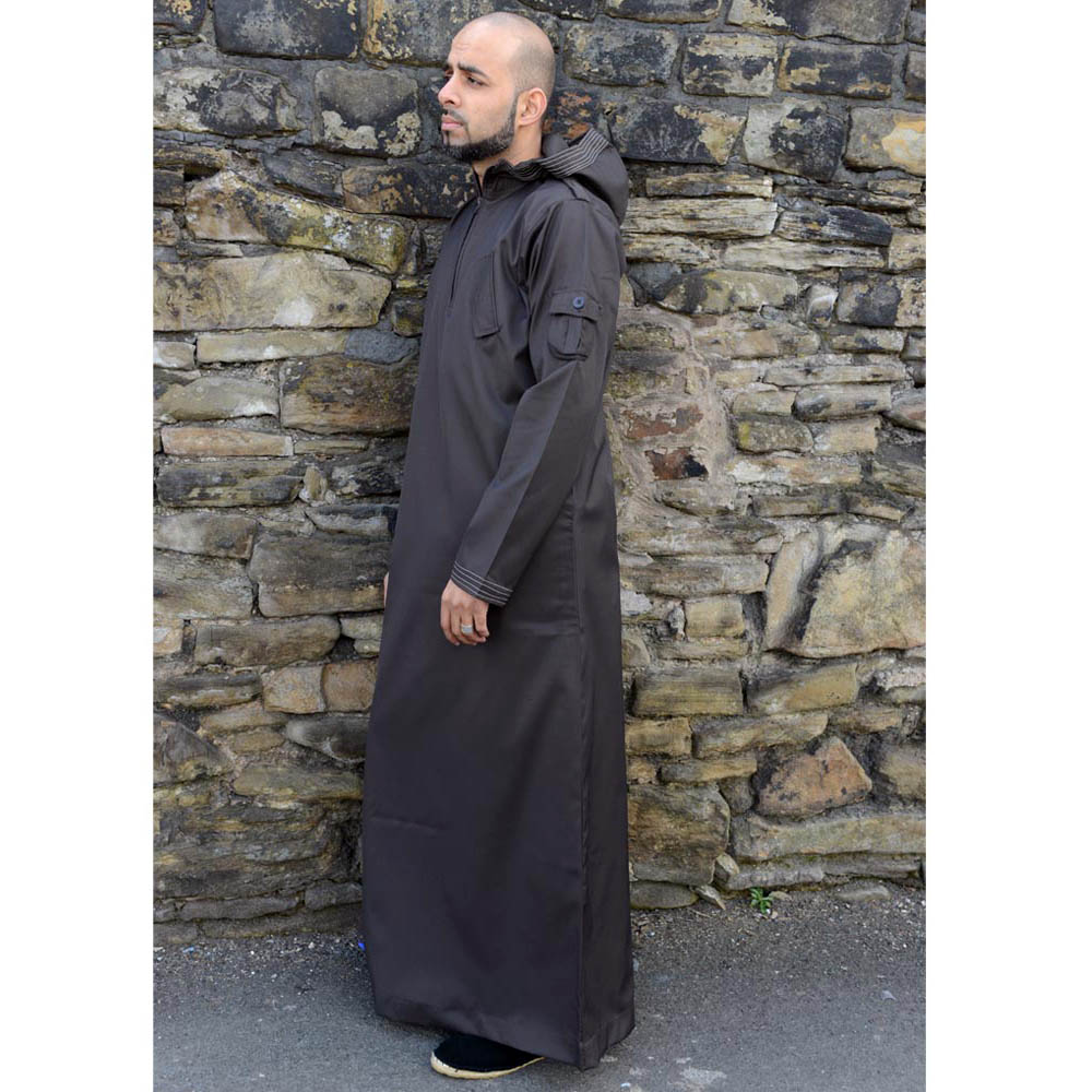 Brown Urban Hooded Jubba