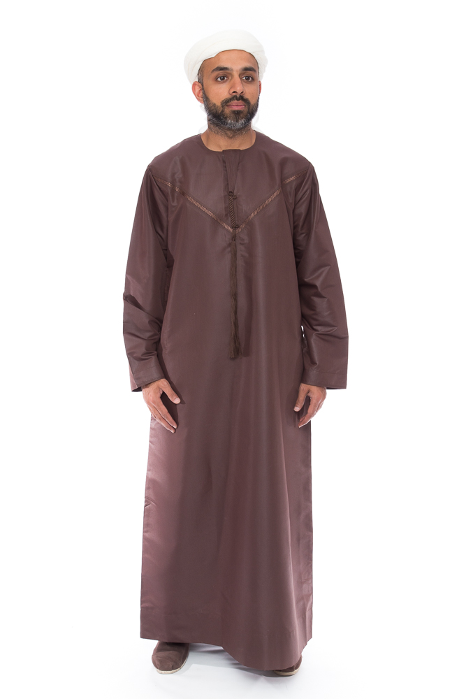 Mens Omani New Brown Jubba