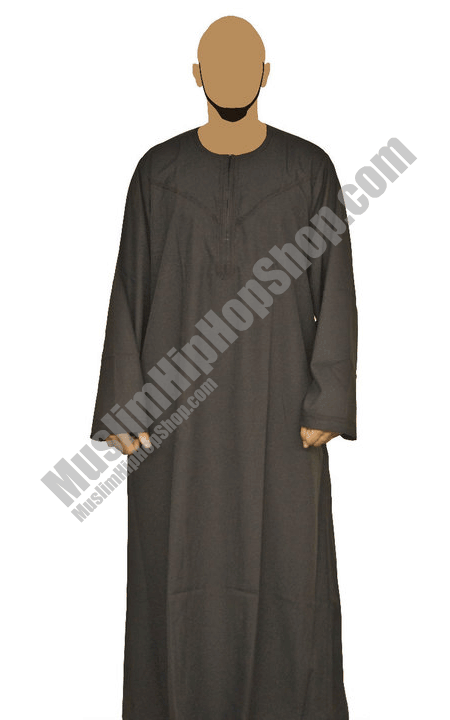 Brown Omani Jubbah Thobe