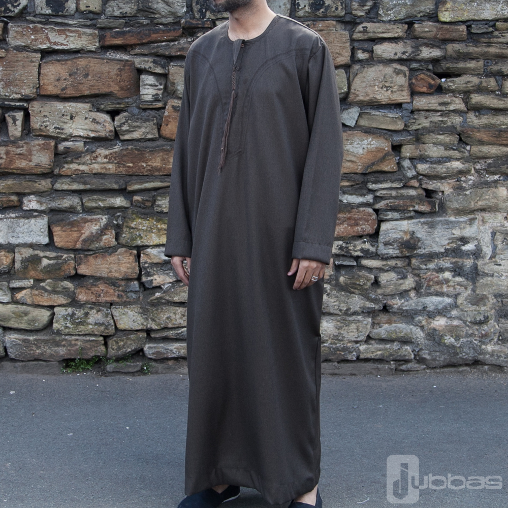 Mens Omani Winter Jubba Brown