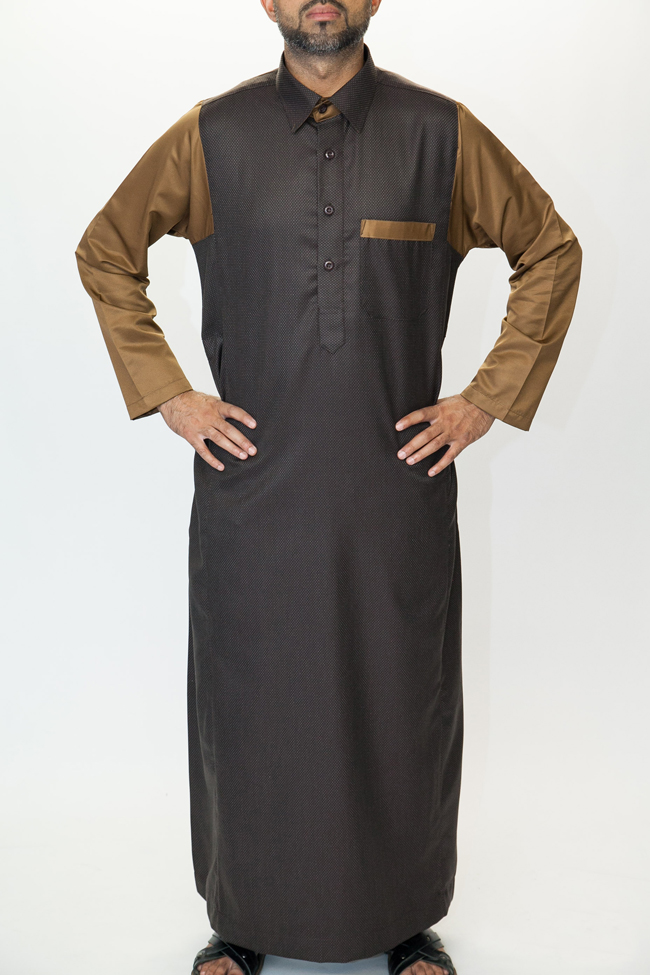Brown Shirt Collar Jubbah
