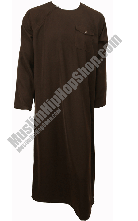 Brown Side Zip Jubbah