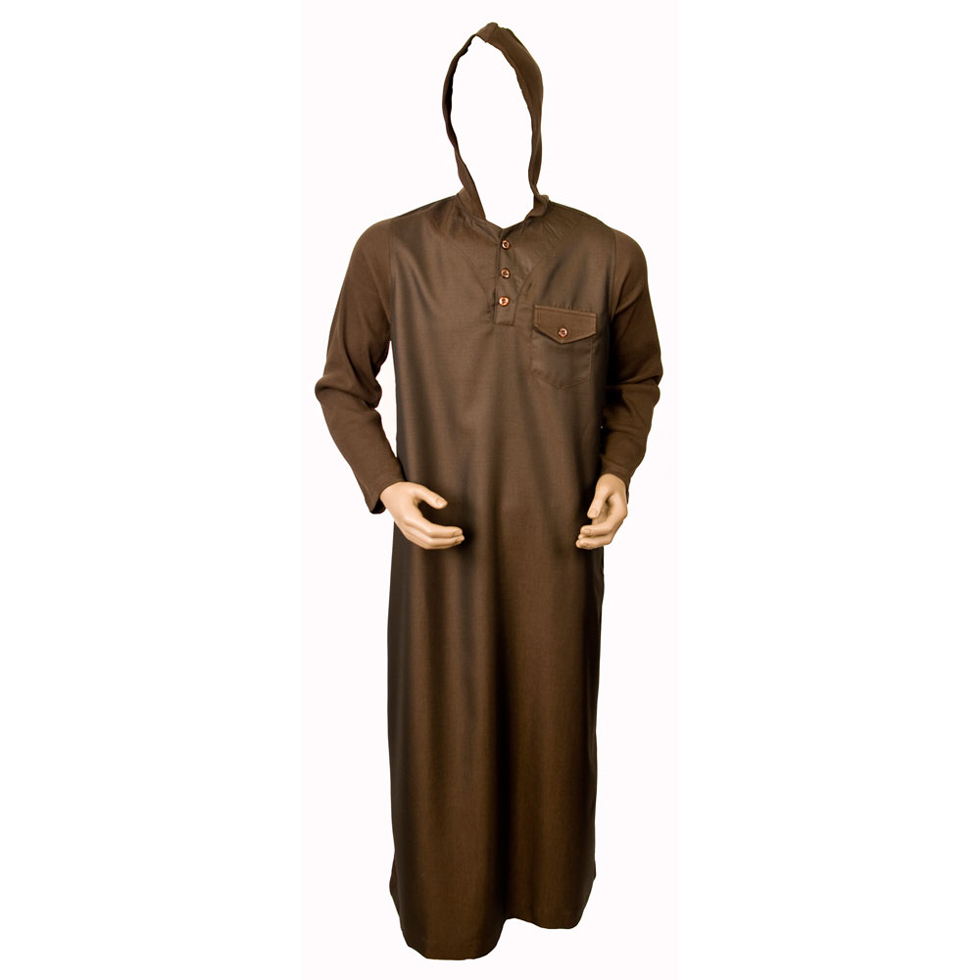 Brown Sleeve Jumper Hooded Jubba Thobe