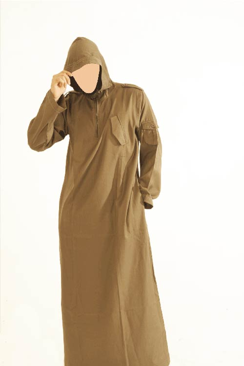 CM Hooded Brown Jubba