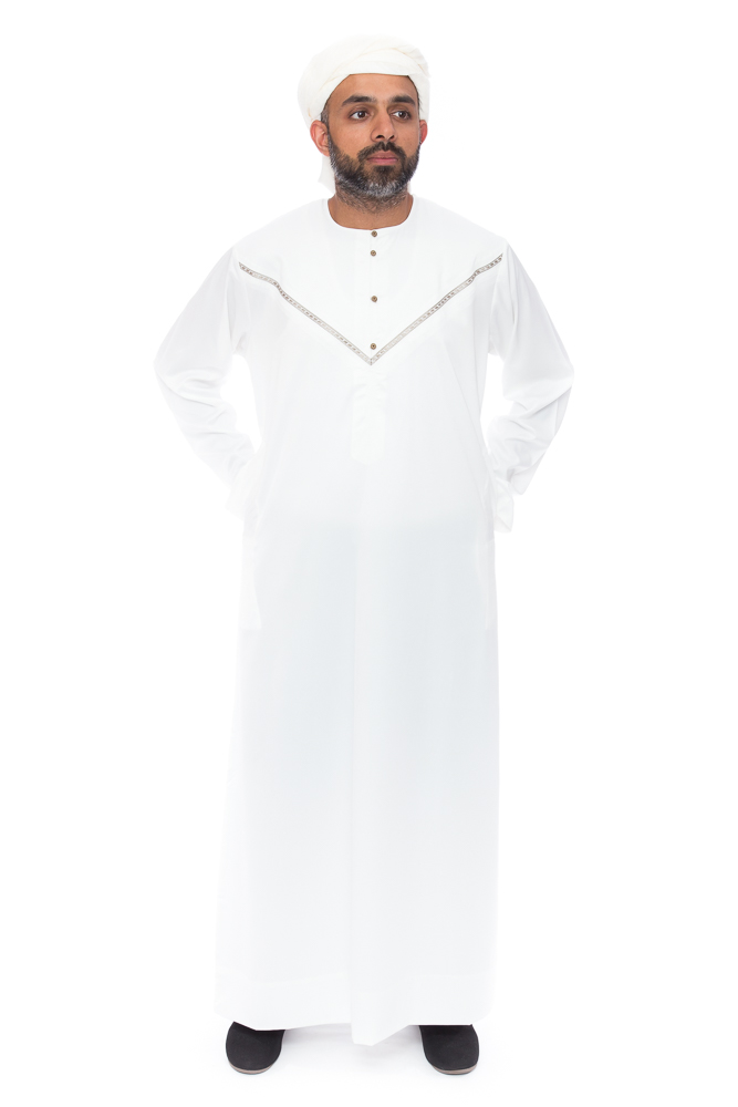 Omani Mens Cream Jubba