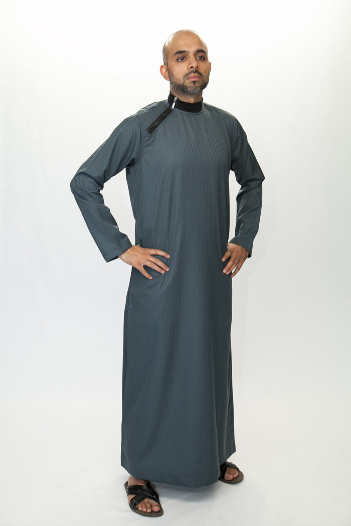 Dark Grey Zip Jubba