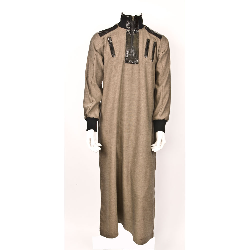 Double Zipper Brown Jubba Thobe