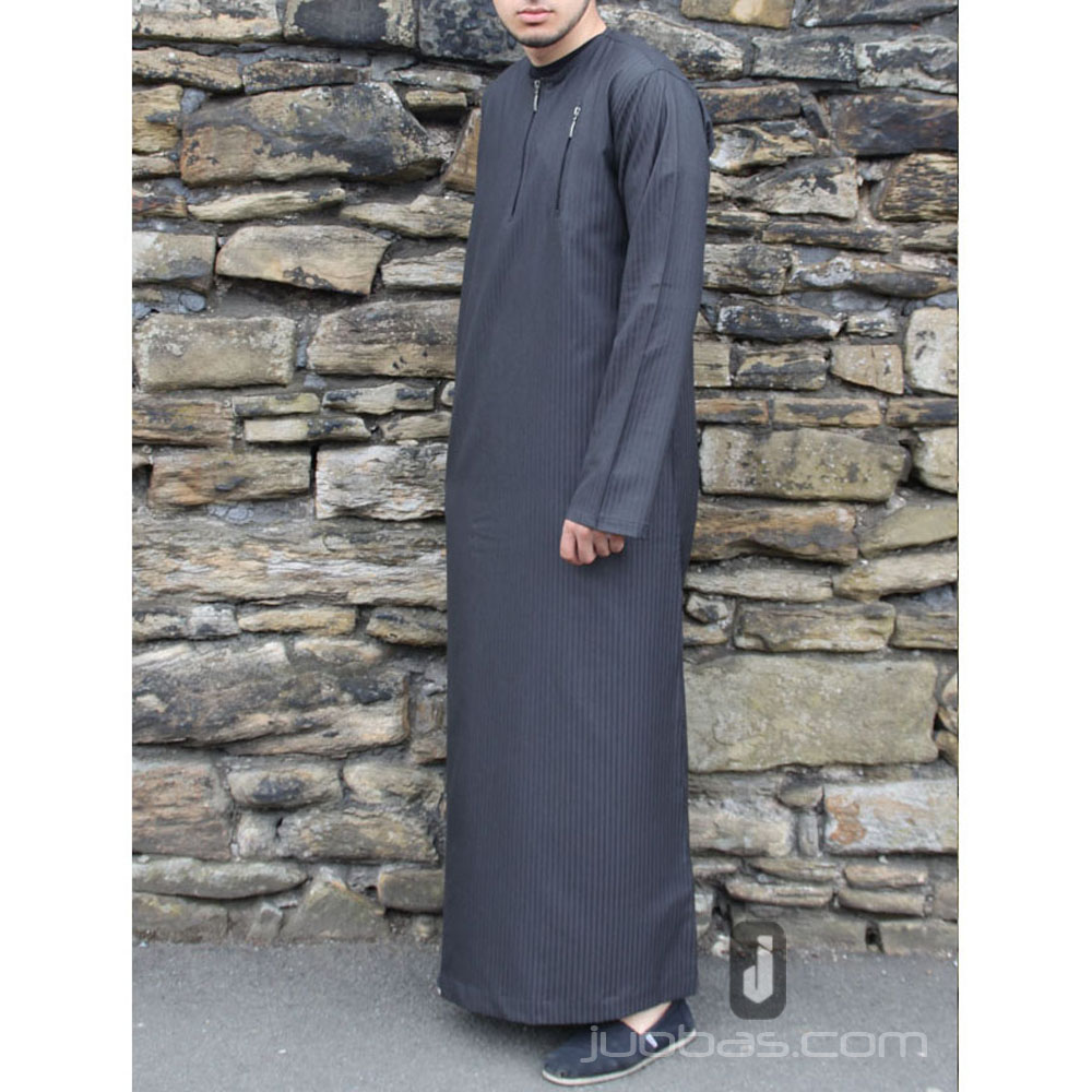Double Ibiza Zip Charcoal  Black Jubba