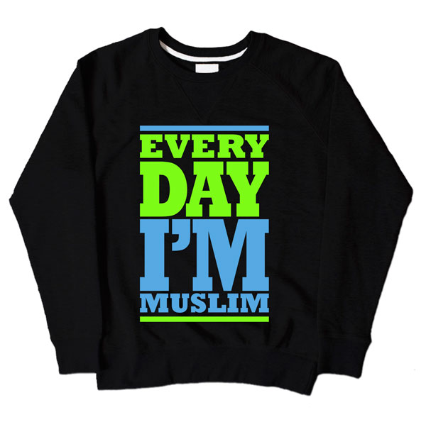 Every Day Im Muslim Black Sweatshirt