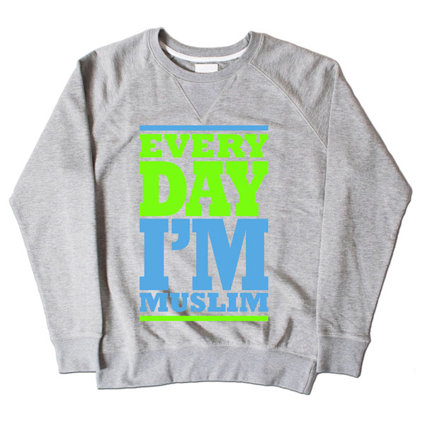 Every Day Im Muslim Grey Sweatshirt