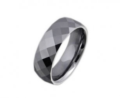 Facet Cut Silver Muslim Ring