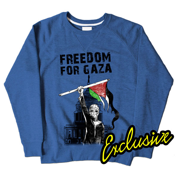 Freedom For Gaza Blue Sweatshirt