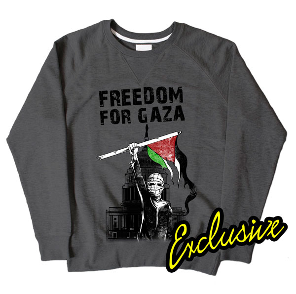 Freedom For Gaza Dark Grey Sweatshirt