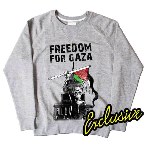 Freedom For Gaza Grey Sweatshirt