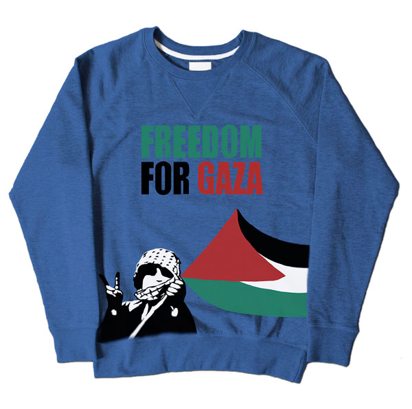 Freedom For Gaza Kid Blue Sweatshirt