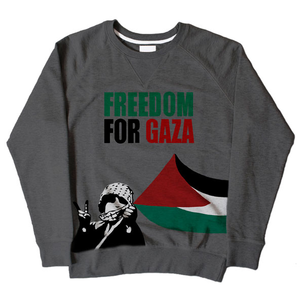Freedom For Gaza Kid Grey Sweatshirt