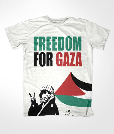 Freedom For Gaza Kid White Muslim T Shirt