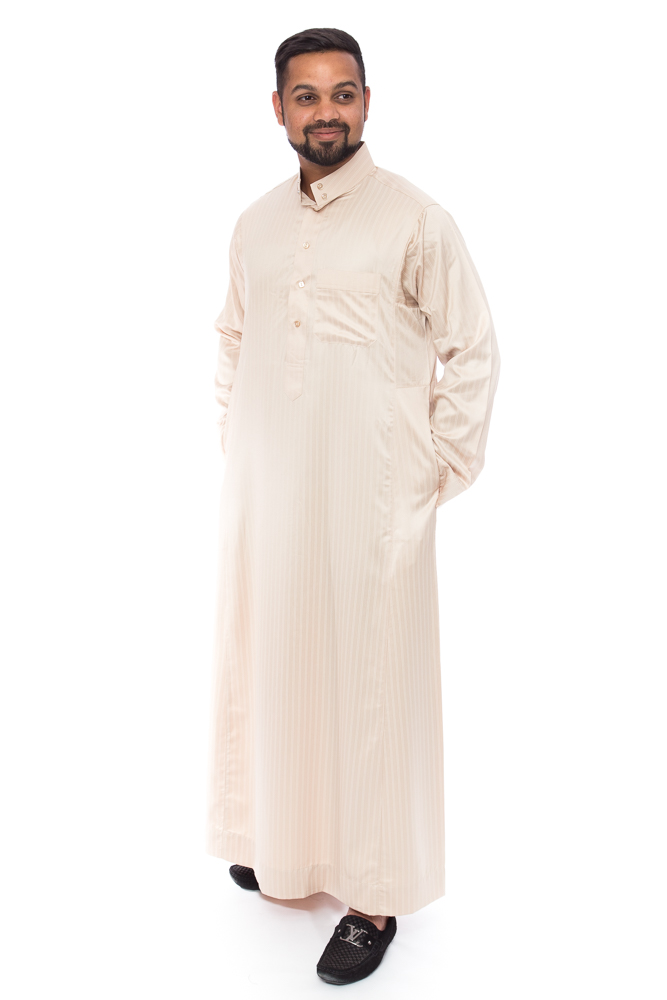 Mens Gold Line Coller Arab Jubba