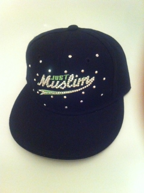 Green Design Black Islamic Cap