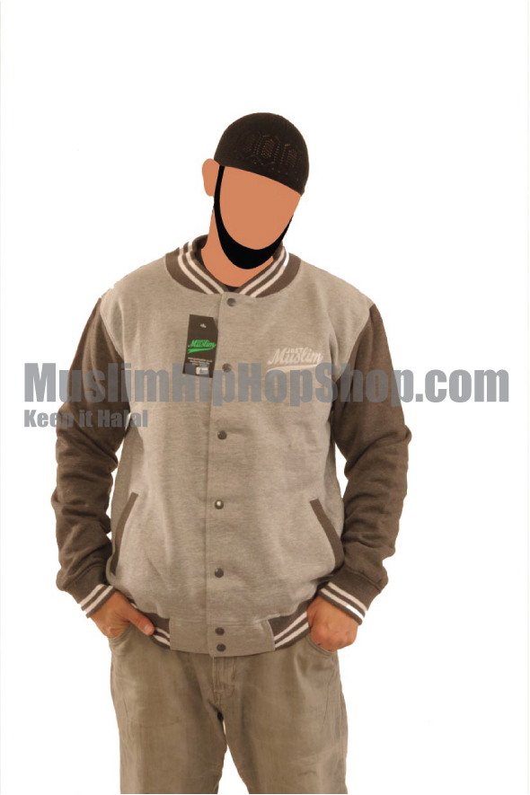 Grey Color Islamic Baseball Jacket