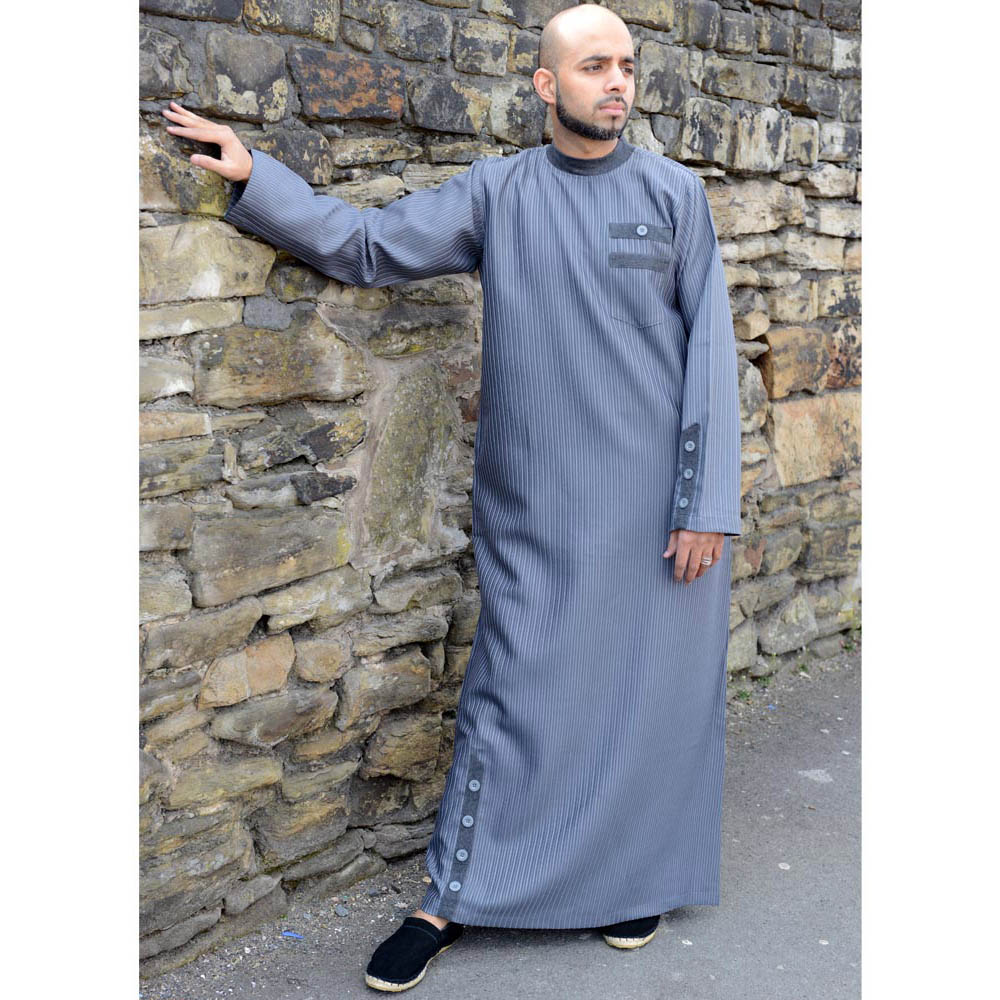 Grey Cuff Button Jubba