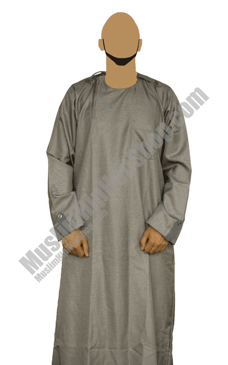 Grey mens fashion jubbah Thobe