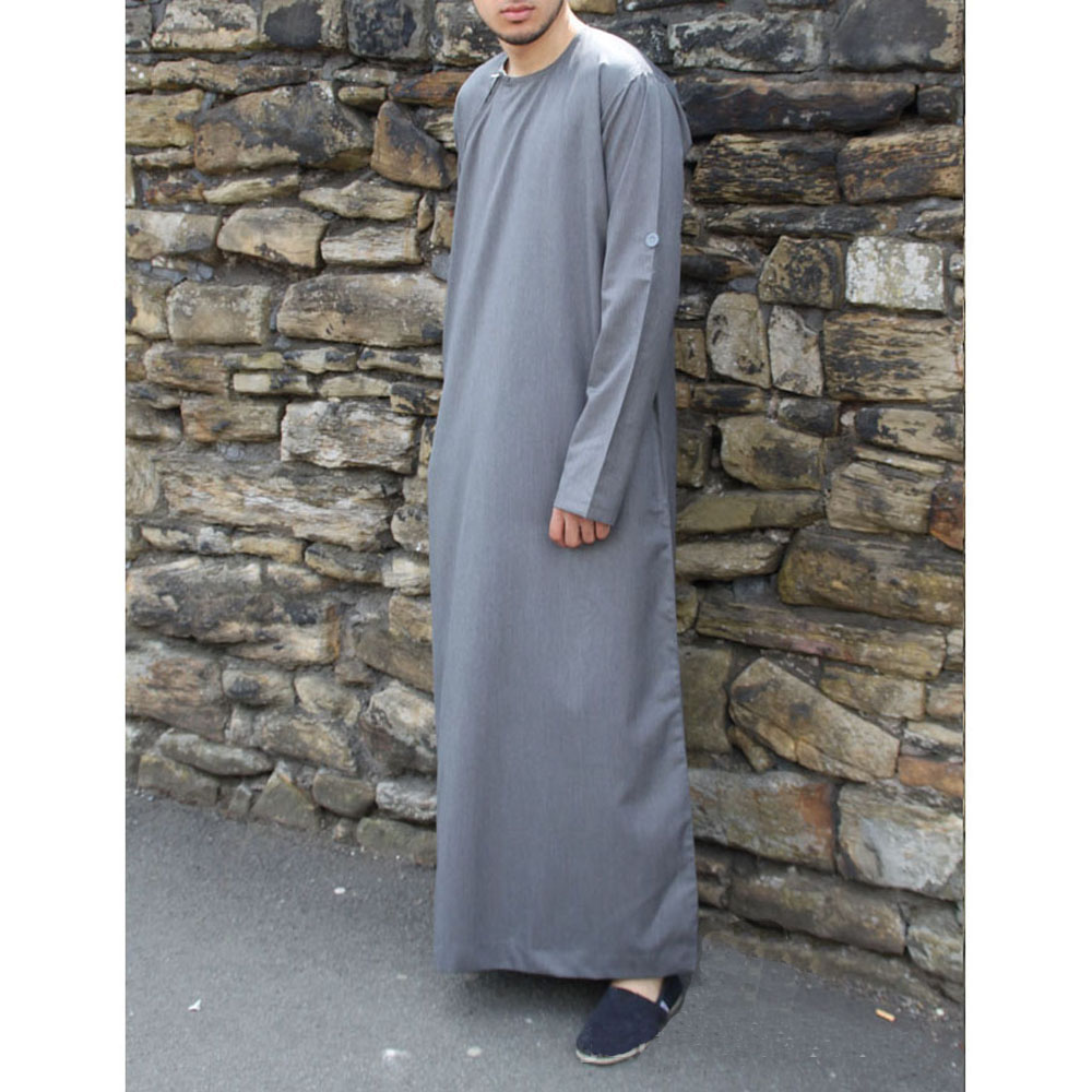 Grey Roll Down Islamic Jubba