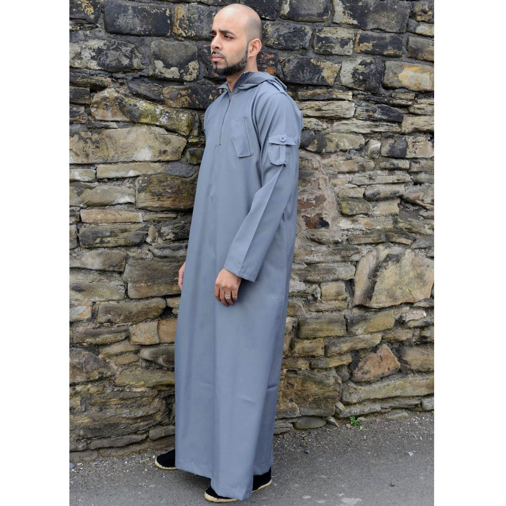 Grey Urban Hooded Jubba