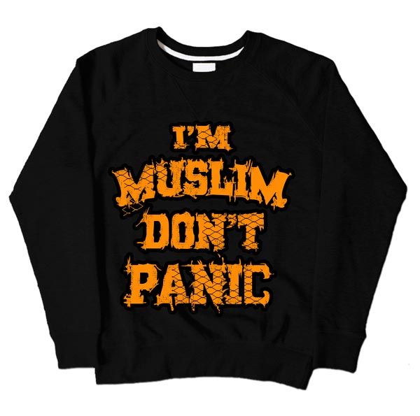 Im Muslim Dont Panic Black Sweatshirt