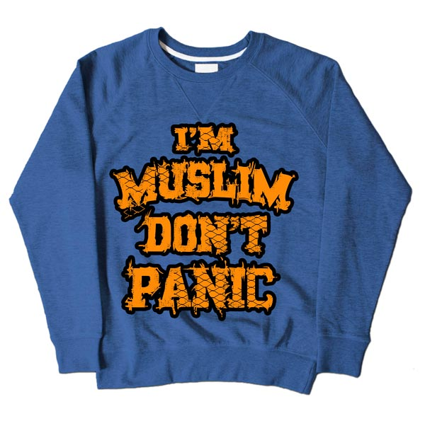 Im Muslim Dont Panic Blue Sweatshirt