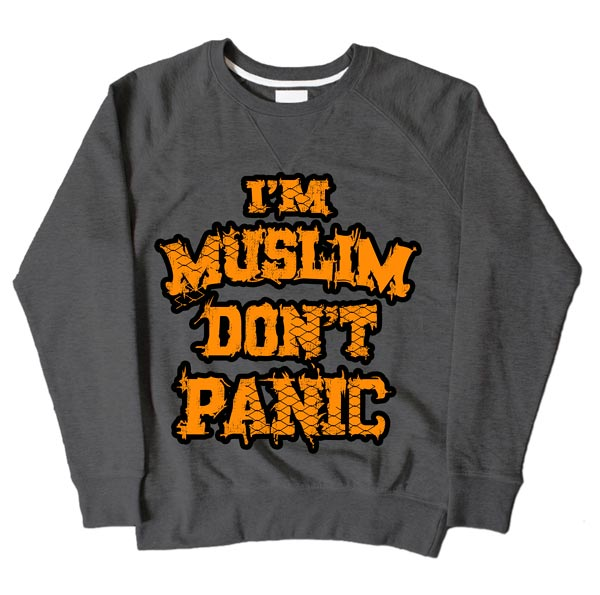 Im Muslim Dont Panic Dark Grey Sweatshirt