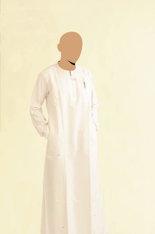 Ibiza Double Zip White Jubba